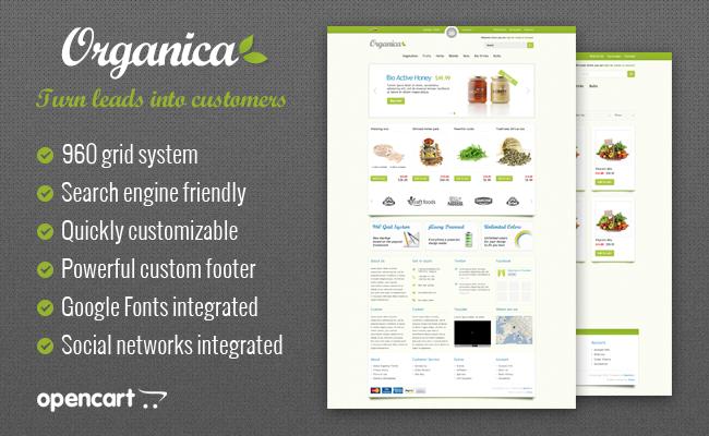 Organica - Premium OpenCart Template | iSenseLabs
