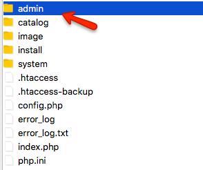 OpenCart Admin Folder
