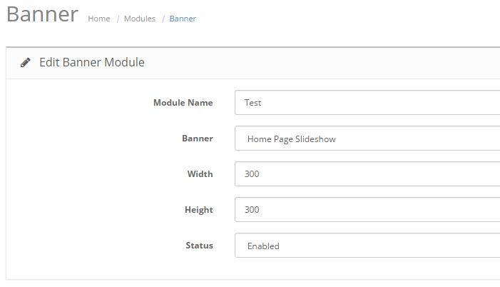 Edit Banner module