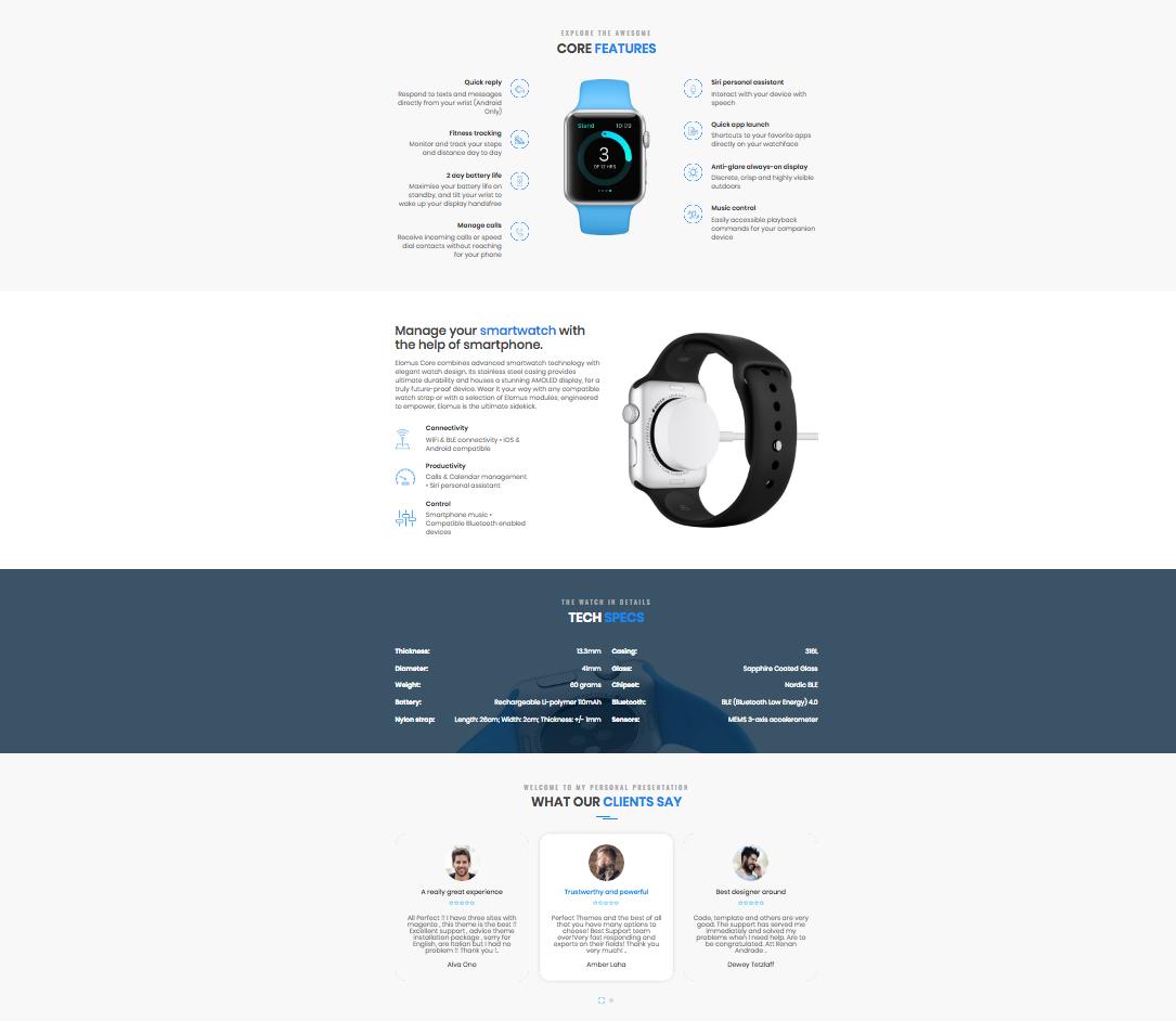 Elomus OpenCart Landing Page