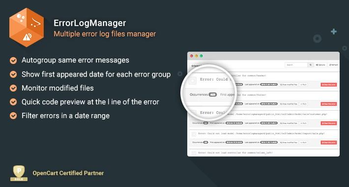 Error Log Manager for OpenCart