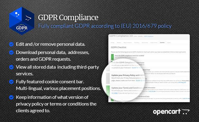 GDPR OpenCart Compliance