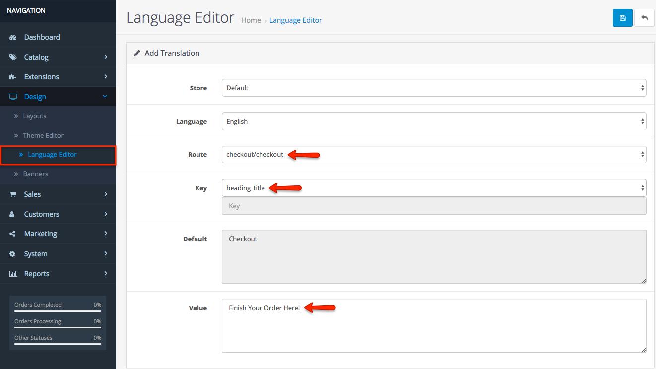 OpenCart 3 Language Editor