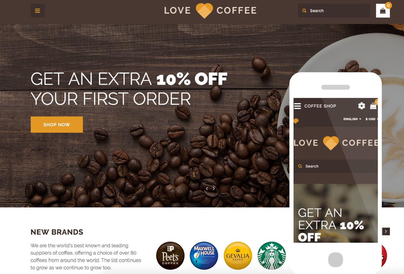 Love Coffee OpenCart Theme