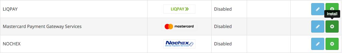 OpenCart 3.0 Mastercard