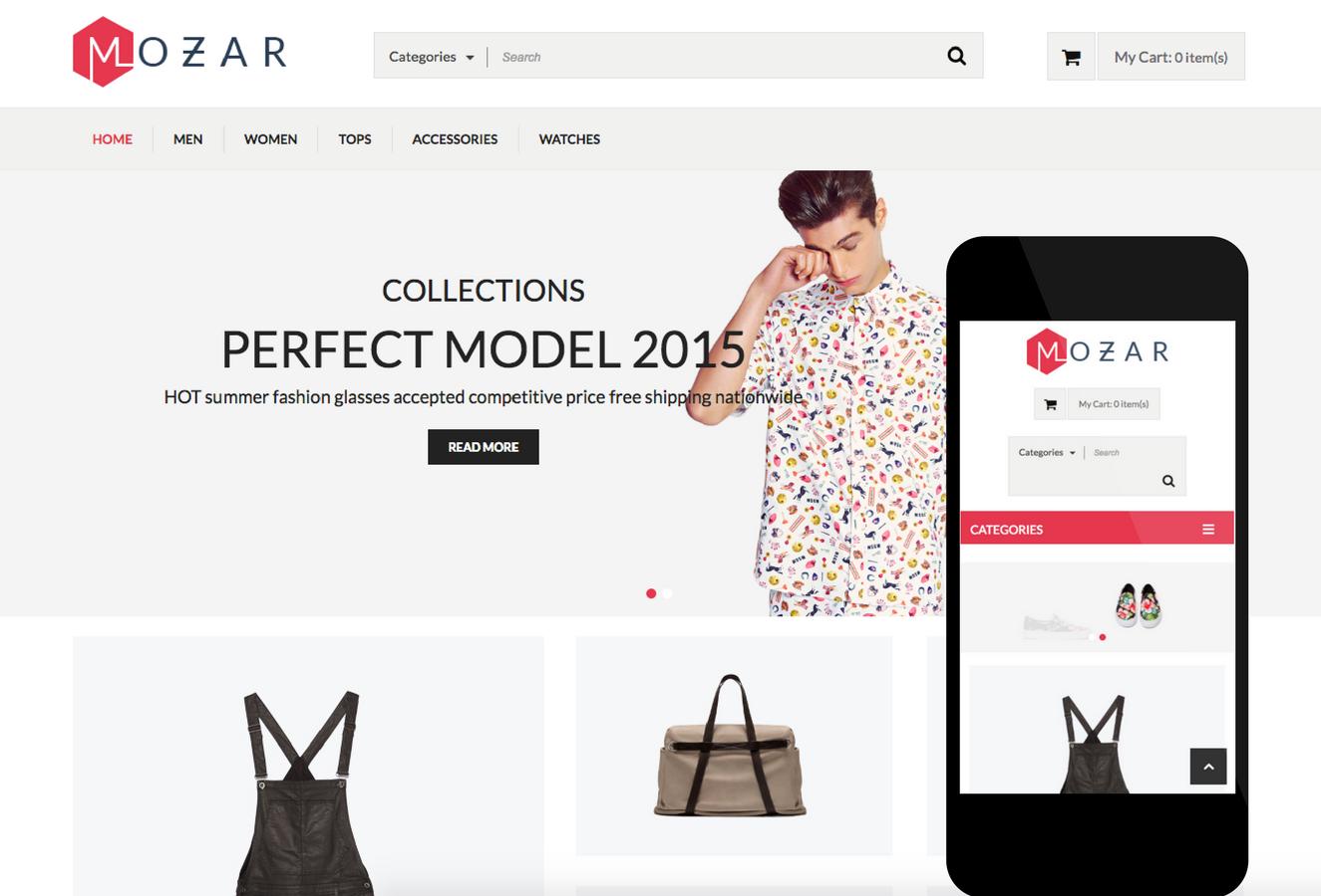 Mozar OpenCart Theme
