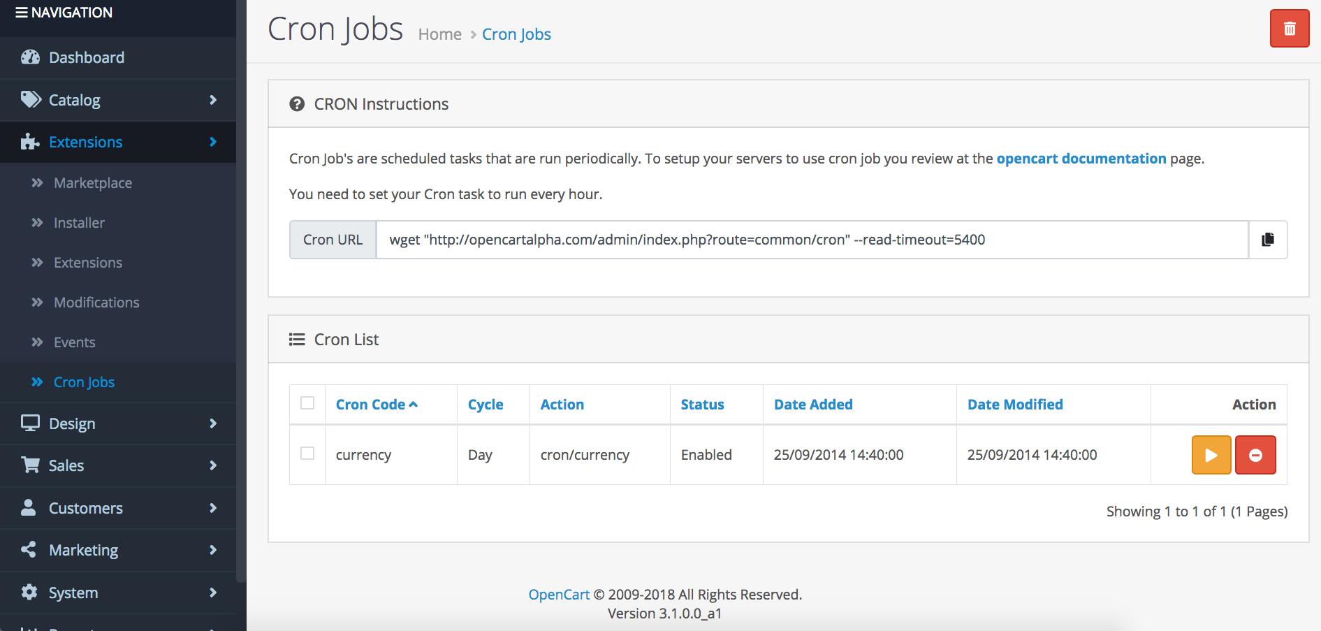 OpenCart 3.1 Cron Jobs