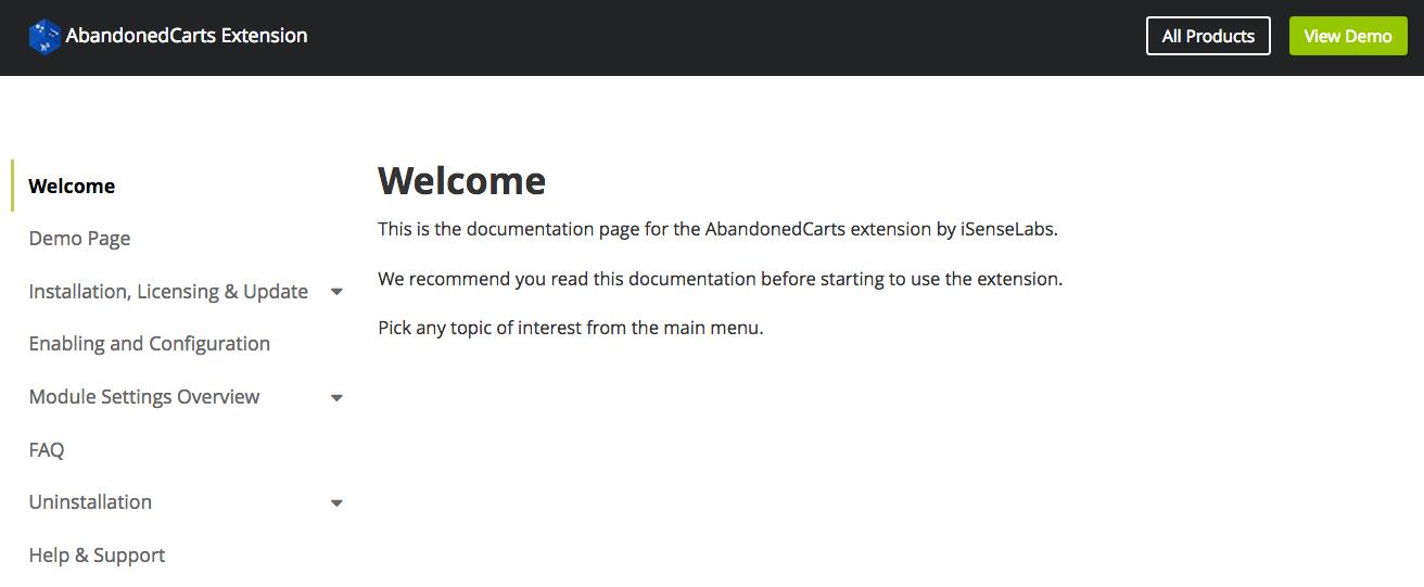 OpenCart Module Documentation