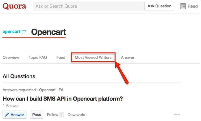 Quora OpenCart Topic