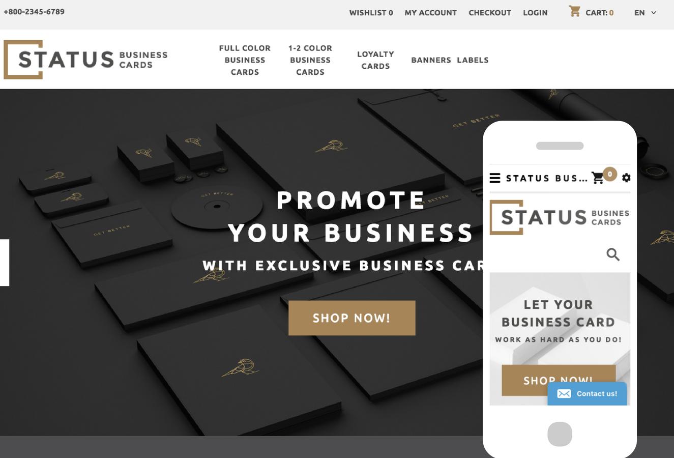 Status OpenCart Theme