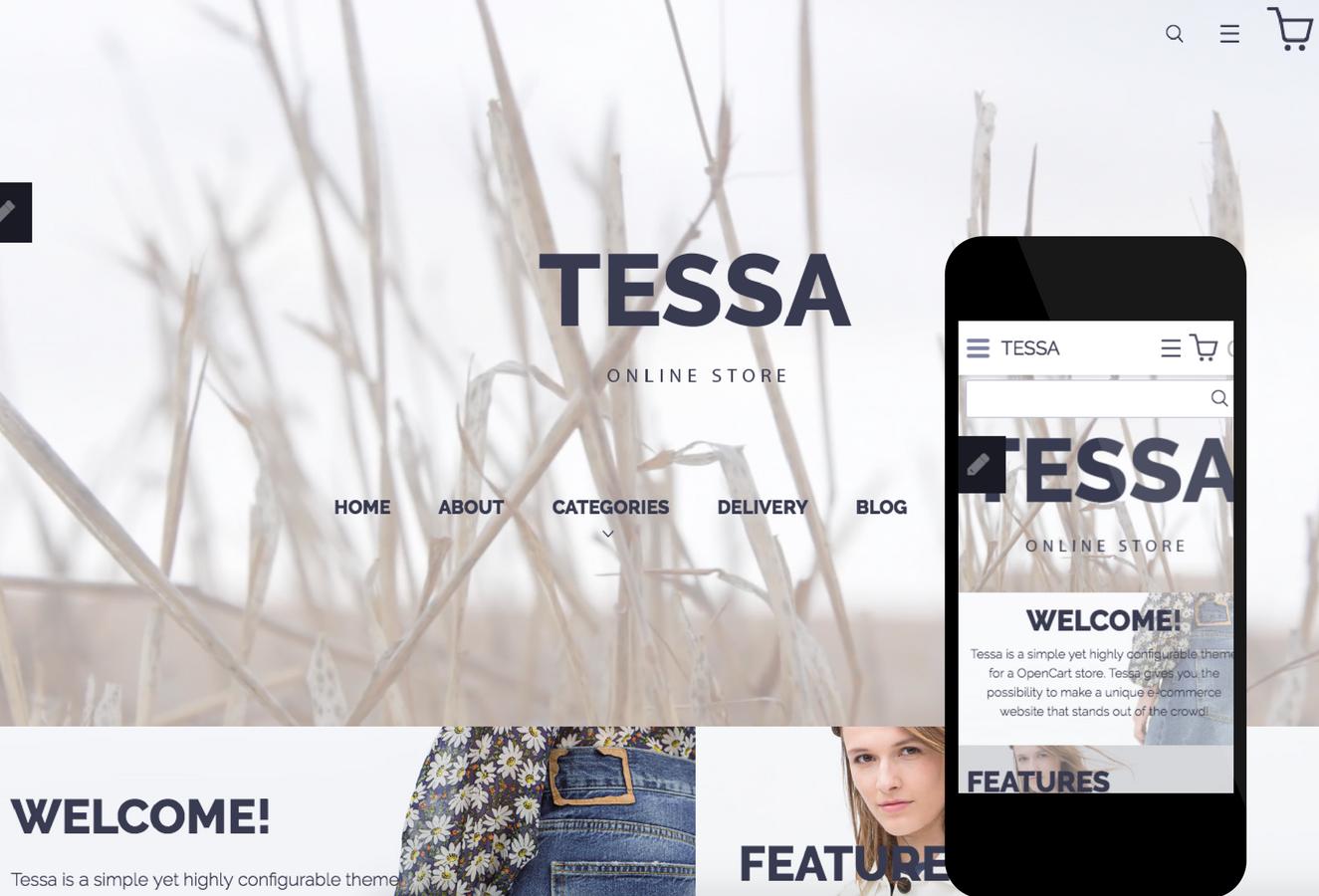 Tessa OpenCart Theme