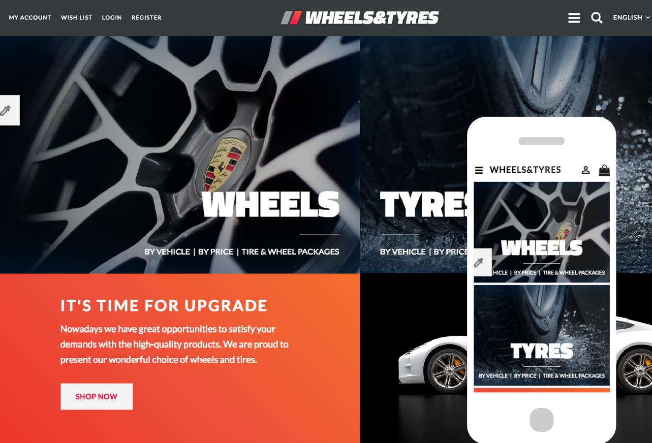 Wheels & Tyres OpenCart Theme
